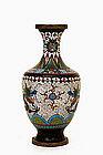 Old Chinese Gilt Cloisonne Dragon Vase