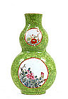 Old Chinese Export Famille Rose Wall Vase MK