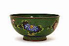 19C Chinese Gilt Cloisonne Bowl Flower