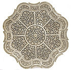 Mughal Style SoapStone Carved Plate