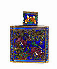 Old Chinese Silver Enamel Snuff Bottle Mk
