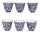 Chinese Enamel Blue & White Porcelain Cup Bamboo