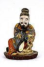 Meiji Japanese Kutani Old Sage Man Figurine