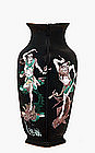 19C Chinese Famille Noire Vase Ghost Figurine