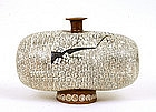 Old Japanese Pottery Vase Ikebana Hanakago Sg