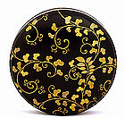 Old Japanese Makie Lacquer Round Box