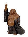 Old Japanese Bronze Hotei Figurine Figure Sg
