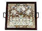 Old Chinese Silk Embroidery Frame Tray