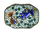 Old Chinese Cloisonne Enamel Silver Plated Box Marked