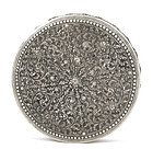 Old Persian Islamic Repousse Silver Round Box