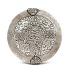 Old Chinese Tibetan Silver Dragon Cover Bowl
