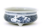 Old Chinese Porcelain Blue & White Planter
