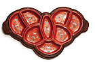 Chinese Famille Rose Coral Red Butterfly Dish Bowl