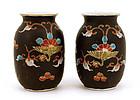 2 19C Japanese Imari Koransha Vase Phoenix Bird MK