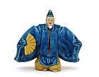Japanese Kutani Imari Noh Mask Dancer Figurine