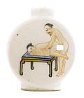 Old Chinese Famille Rose Snuff Bottle Erotic Nude Sex