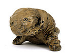 Old Chinese Burl Wood Carved Puppy Dog