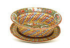 Chinese Export Rose Medallion Basket & Plate