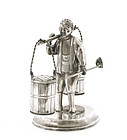 Japanese Sterling Silver Salt & Pepper Man with Bucket