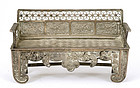 Old Chinese Silver Filigree Miniature Chair