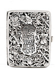 Old Chinese Reticulated Silver Cigarette Card Case