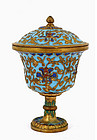 Old Chinese Gilt Cloisonne Cup with Cover