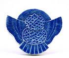 Old Japanese Seto Blue & White Box Bird