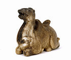 Old Chinese Jade Carved Camel