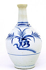 Japanese Imari Blue & White Tokkuri Sake Bottle