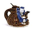 Japanese Imari Hirado 7 Lucky God Ebisu Teapot