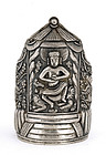 Early 20C Chinese Silver Dragon Armlet Buddha Bangle