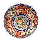 Meiji Japanese Imari Punch Bowl Dragon & Phoenix
