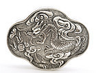 Early 20C Chinese Sterling Silver Dragon Box Mk