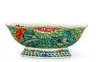 19C Chinese Famille Rose Bowl Lotus Flowers