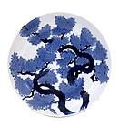 19C Japaneses Imari Nabeshima Blue & White Plate