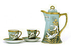 5 Japanese Nippon Chocolate Tea Set Teapot Goose Swan