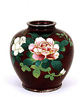 Japanese Pigeon Blood Cloisonne Vase Rose