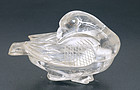 Early 20C Chinese Rock Crystal Duck Box
