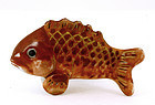 Old Japanese Kutani Porcelain Netsuke Koi Fish