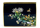 Old Japanese Inaba Cloisonne Box with Flowers Mk