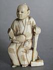 Small Japanese Ivory Okimono - Meiji Period 1868-1911