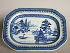 Small Blue White Chinese Export Serving Dish c1775-1800