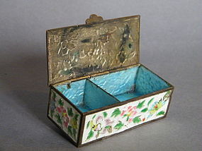 Small Enamelled Copper Stamp Box, Guangxu (1875-1908)