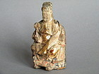 Small Wood Carving of Official,  Ming Dynasty 1368-1644