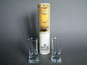 1970s Per Lutken Holmegaard Aquavit No.5 Glasses