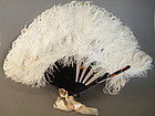 Early 20thC Ladies Ostrich Feather Fan circa 1920-1940