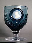 Rare Churchill Commemorative Wedgwood Glass Goblet 1974