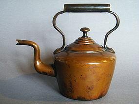 Victorian E.V.W Copper Tea Kettle, circa 1850-1900