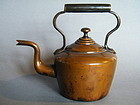 Victorian E.V.W Copper Tea Kettle, circa 1850-1900