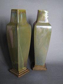 Art Nouveau Rambervillers Lustre Vases circa 1905-1910
